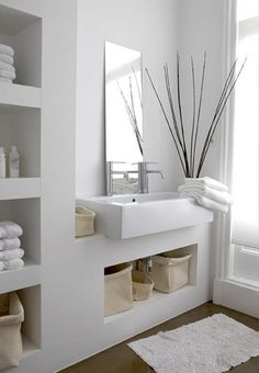 Amazing Home Stage to Your Home for Sale: Stylish Modern Small Bathroom Storage Stage Your Own Home