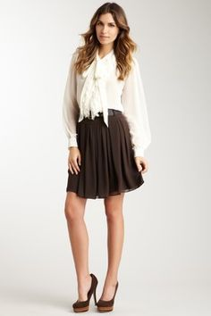 Double Belted Solid Skirt