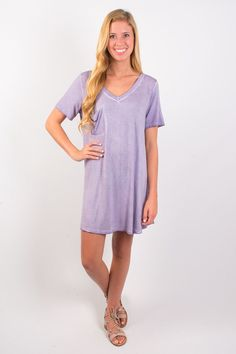 Palm Trees T-Shirt Swing Dress - Violet