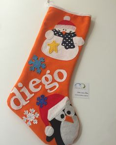 Bota de Navidad personalizada www.facebook.com/cottonlima