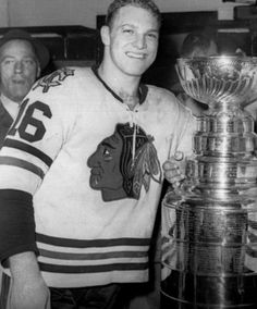 Bobby Hull and Chicago Blackhawks 1961 Stanley Cup Champions canada ontario Chicago Blackhawks Players, Blackhawks Hockey, Hockey Players, Stanley Cup, Bobby Hull, Hockey Games, Ice Hockey, National Hockey League, Champions