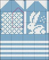 Bilderesultat for strikkemønster kanin Knitting For Charity, Fair Isle Knitting, Knitting For Kids, Knitting Projects, Knitting Charts, Baby Knitting Patterns, Knitting Socks, Knitting Stitches, Knitted Mittens Pattern