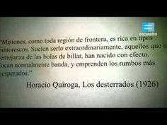 """Desde el sur: Horacio Quiroga, """"Los desterrados"""" - Canal Encuentro - YouTube"""