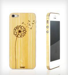 Dandelion Wood iPhone 4/4S/5 Stick-On Cover | Add a little nature back into your life with this real wood iP... | Mobile Phone Cases