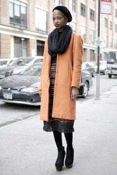 Niama at New York Fashion Week / Photo by Anthea Simms