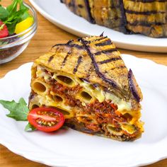 Our eggplant pasta cake will become your favorite food # eggplants Vegetable Recipes, Vegetarian Recipes, Cooking Recipes, Healthy Recipes, Cooking Beef, Camping Cooking, Cooking Tools, Pasta Cake, Deli Food