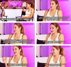 Shailene Woodley talking about The Fault in Our Stars with MTV.