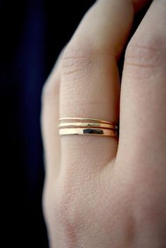 Basic Set of 3 in Gold-fill set of 3 Medium Thickness gold fill stacking rings delicate gold stack ring smooth gold ring thin ring Engagement Ring Rose Gold, Morganite Engagement, Jewelry Rings, Fine Jewelry, Jewellery, Jewelry Ideas, Ruby Jewelry, Gold Jewelry, Gothic Jewelry
