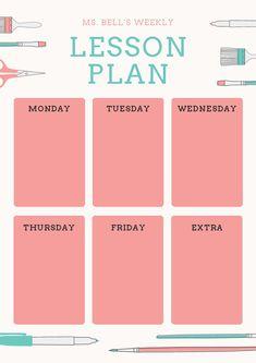 Teks Lesson Plan Template New Customize 1 304 Lesson Plan Templates Online Canva Schedule Design, Schedule Templates, Lesson Plan Templates, Art Lesson Plans, Planner Template, Printable Planner, Lesson Planner, Study Planner, Planner Pages