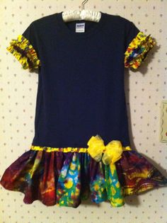 Girls Size 6/8  TShirt RAGS DRESS GG0215 by GabbiGirlz on Etsy, $29.95