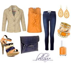 """orange tweed"" by bellaviephotography on Polyvore"
