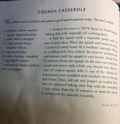 (Paula Deen's Squash Casserole) This is the best squash casserole EVER!! I'll never make a different one. I make them all through the summer with the squash from my garden.