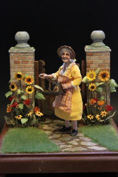 Miniature Gardens, Miniature Dolls, Dollhouse Dolls, Dollhouse Miniatures, Old Folks, Fantasy Life, Oldies But Goodies, Small Art, Doll Crafts