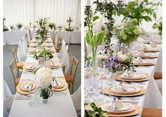 Table flowers by Phillip Taylor Corps at Trevenna barns