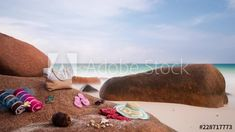 Stop motion of beach on tropical island (granitic) Seychelles, Praslin, Anse Lazio with hat, sunglasses, sandals, towels and coconut. 4K, 25p #TLSA #wedoallthingstimelapse #stock #stockfootage Stop Motion, Seychelles, Stock Video, High Quality Images, Stock Footage, Towels, Adobe, Coconut, Tropical