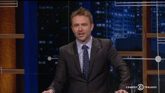 Sarah Palin went full Looney Tunes on Tuesday and host Chris Hardwick knows exactly which character she channeled during her speech. Talking To The Dead, Sarah Palin, Political Satire, Cartoon Characters, Suit Jacket, Ties, Entertainment, Shirt, Pattern