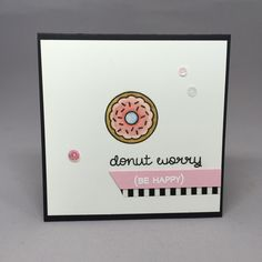 Lawn Fawn Donut Worry Watercolor donut