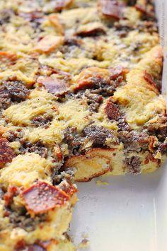 Easy Sausage Cheese Breakfast Casserole from @wearsmanyhats