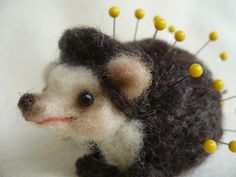 Hedgehog pin cushion.  Why must I be so spiky?