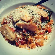 Riso italiano for lunch at East Side Mario's East Side, Foodies, Mario, Lunch, Restaurant, Homemade, Chicken, Meat, Home Made