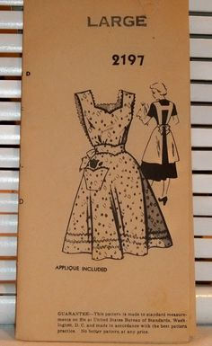 1940s Vintage Apron Mailorder Pattern by PatternJones on Etsy