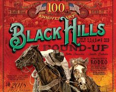 101st Black Hills Round-Up Rodeo Poster   Etsy Cheyenne Rodeo, Pendleton Round Up, Cattle Drive, Daddy, The Past, Art Work, Poster, Etsy, Crafts