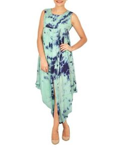 29a6c76af6 Shop online blue tie dye cowl dress Dark and light blue tie dye crepe cowl  dress