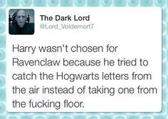 Lord Voldemort telling it like it is…