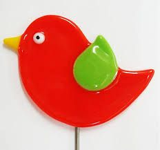 Image result for fused glass birds