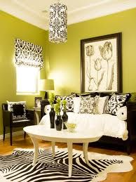 Love this idea.  Green black white.