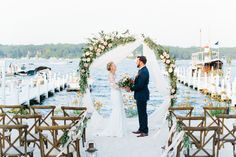 Mediterranean Styled Wedding at Pier 290, Lake Geneva Cruise Line and Gage Marine in Williams Bay Lake Geneva, WI on Geneva Lake. Vendors: Lilypots, Kristina Lorraine Photography, Graceful Events, Parker Drive, Julie Michelle Cakes, Forever Birdy, BBJ Linen, Pure Joy Ink, All About The Gown, Make Up By Jillian, Clearwater Salon, A Personal Touch DJ, Chance Productions, Halls Rental Service Wedding Inspiration Lake Wedding Blush Red Blue Fruit Floral Lush Olive Branch Garden roses eucalyptus Lakeside Wedding, Waterfront Wedding, Lake Geneva Wisconsin, Arch Flowers, Bay Lake, Fresh Flower Delivery, Santorini Wedding, Dream Wedding, Wedding Blush