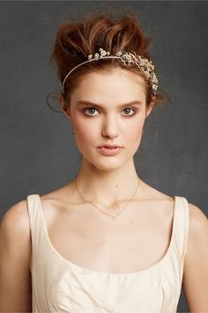 Botanical Garland Headband...crystals & pearls...simple, classic & elegant bride~ http://www.bhldn.com/shop-shoes-accessories-headpieces/botanical-garland-headband#