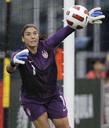 Hope Solo is such an amazing goalie. She is my idol!!!:)
