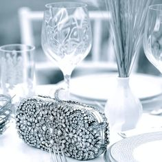 No wedding table is complete without a @Marchesa clutch and festive @Lenox by Marchesa china