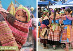 Hmong Women and Children - Bac Ha Market