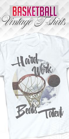 "This Michael Jordan quote is one of his best - ""Hard work beats talent when talent doesn't work hard"". See all basketball t-shirts on our website."