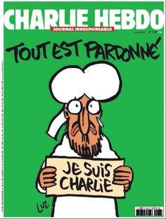 Nuova copertina del #CharlieHebdo che uscirà mercoledi #JeSuisCharlie