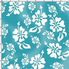 Hawaiian Turquoise Fabric Yard