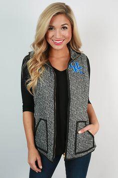 University of Kentucky Herringbone Vest