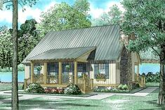 Cottage Style House Plan - 3 Beds 2 Baths 1374 Sq/Ft Plan #17-2018 Exterior - Front Elevation - Houseplans.com