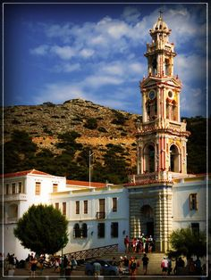 The monastery of Taxiarchis Mihail Panormitis in Symi - Greek Mount Olympus, Building, Places, Rhodes, Travel, Turkey, Spirit, Greece, Windows