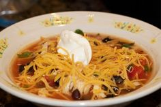 The best chicken tortilla soup recipe out there... well tested.  Great fall soup made in the crockpot!