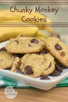 Chunky Monkey Cookies:  made from cake mix!