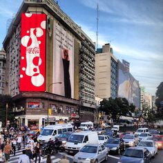 9 de Julio Avenue, the widest avenue in the world in Buenos Aires. #argentina #travel http://ontaskva.com/buenos-aires-argentina
