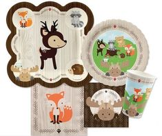 We love this woodland animals baby shower theme and after much searching have finally found some darling woodland animals paper goods that are even gender neutral!