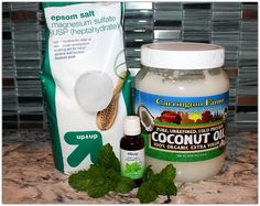 Use this DIY Peppermint Foot Scrub to revive your winter feet and get them ready for the Spring and Summer. Made with soothing Epsom Salt, organic coconut oil and peppermint essential oil, it's pure and natural! Try it, you'll love it!!