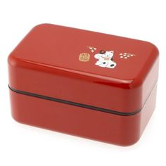 Kotobuki 2-Tiered Bento Box, Red Beckoning Cat, Garden, Haus, Garten, Rasen, Wartung