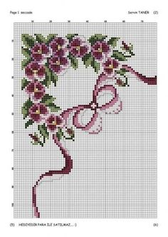This Pin was discovered by Hul Beaded Cross Stitch, Cross Stitch Rose, Cross Stitch Flowers, Hand Embroidery Patterns, Cross Stitch Patterns, Cross Stitch Boards, Fabric Yarn, Christmas Cross, Cross Stitching