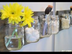 How to Create a Mason Jar Organizer - DIY Playbook