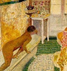 Getting Out of the Bath by Pierre Bonnard,  ca. 1926-30  one of my big art time favs